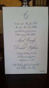 Engraved Hand Painted Wedding Invitation